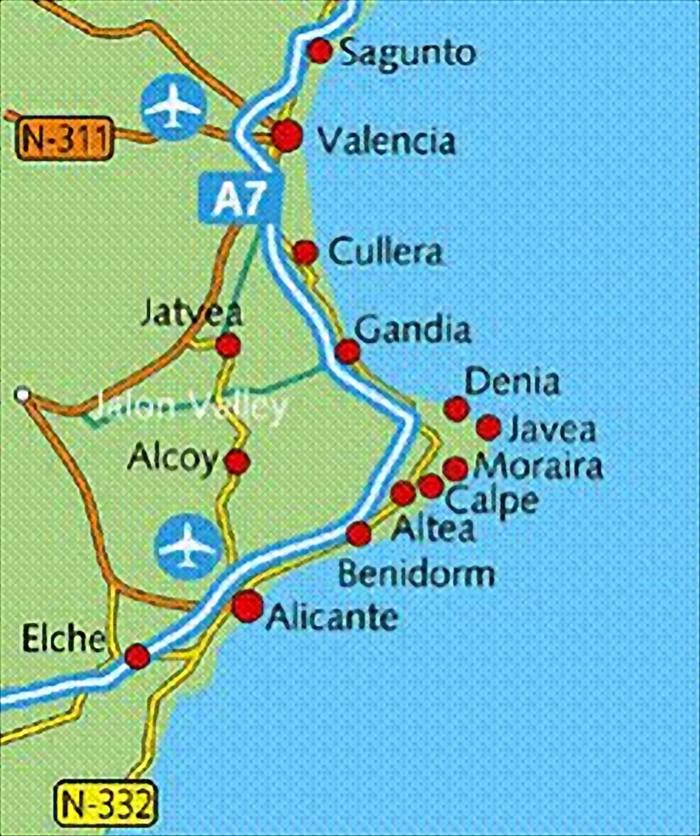 Javea Spain Map.Javea Webvillas